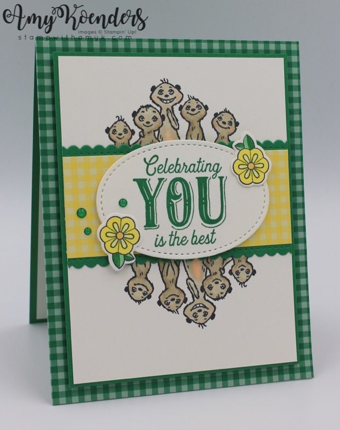 Stampin Up The Gangs All Meer With Birthday Jubilee Card Tutorial Stampin Up Birthday Cards Card Tutorial Stamping Up Cards