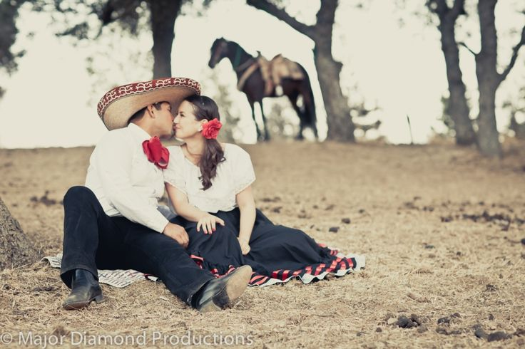 Mexican Traditions: Charro, Horses, Sombrero  Engagement Photos by Major Diamond Production