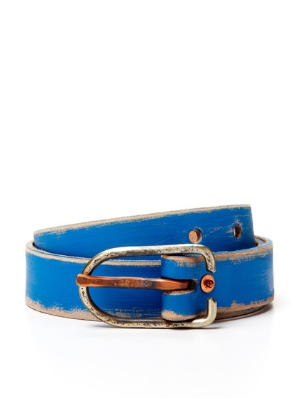 Cause and Effect Painted Leather Belt