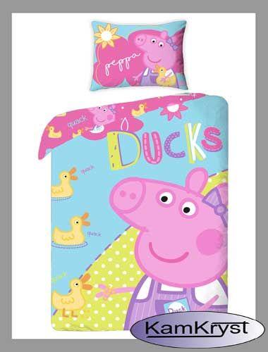 Kolejna nowa propozycja dla małych miłośników Świnki Peppy - pościel bawełniana w rozmiarze 160x200cm - zapinana na suwak.