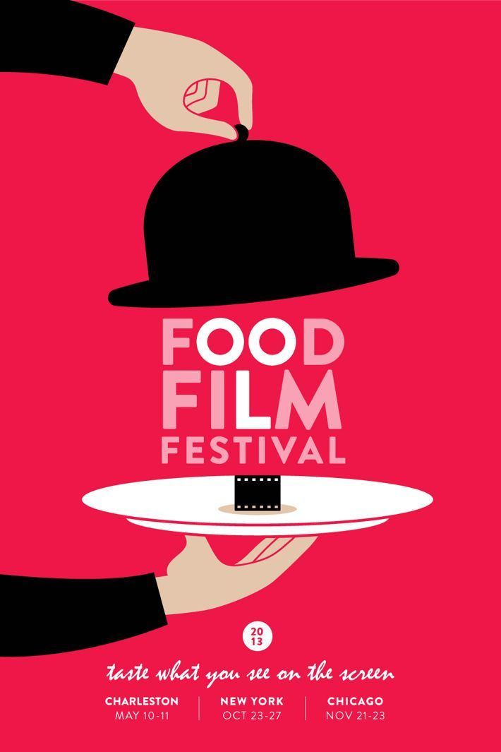 Food Film Festival Poster by Grapheine | Beautiful Poster Designs | #1102