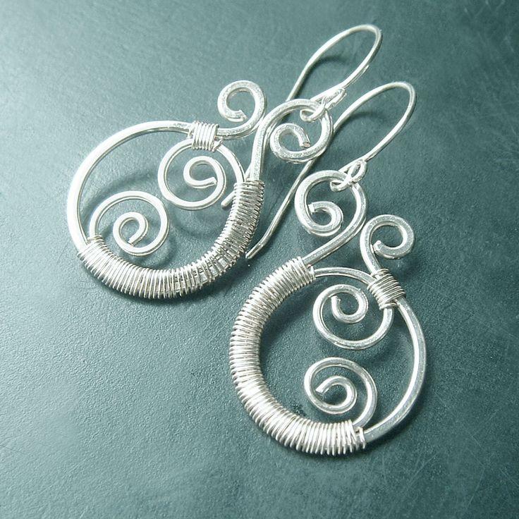 473 best Wire wrapped earrings images on Pinterest | Wire earrings ...