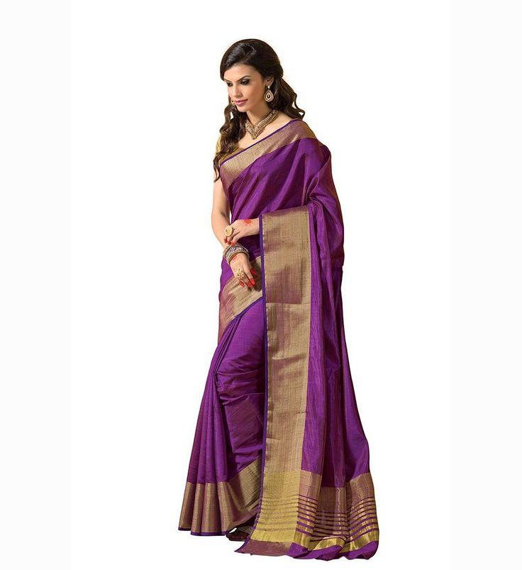 Stylowoman Women's Silk Saree (12615_Purple): Amazon : Clothing & Accessories  http://www.amazon.in/gp/product/B00ZWQPBT2/ref=as_li_tl?ie=UTF8&camp=3626&creative=24822&creativeASIN=B00ZWQPBT2&linkCode=as2&tag=onlishopind05-21  #TussarSilkSarees