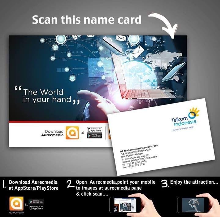 Telkom indonesia' name card