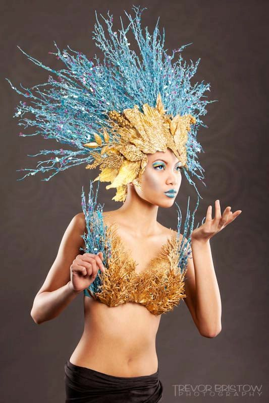 Goddess of Water Inspired Headdress / Headpiece by Posh Fairytale Couture