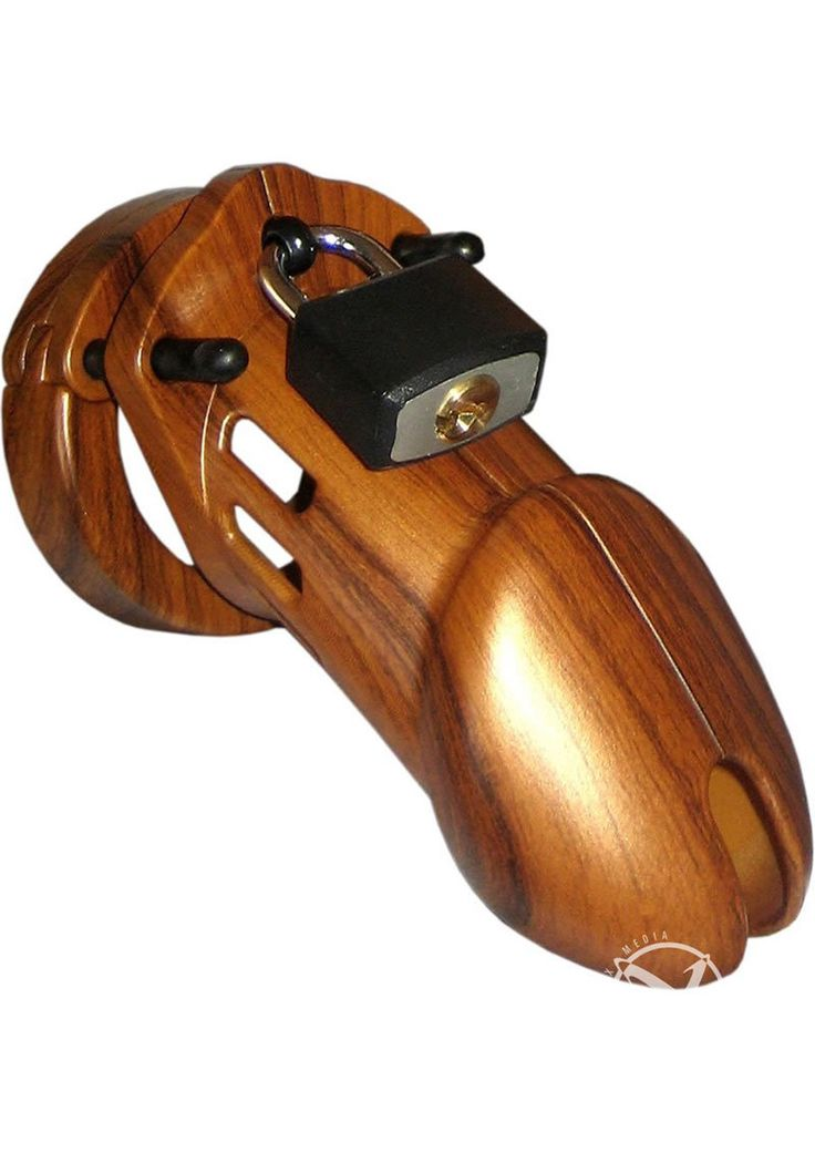 C B 6000 Designer Collection Male Chastity Device Wood Finish from www.mysextoydeals.com