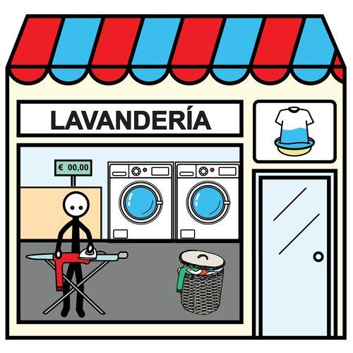 Pictogramas ARASAAC - Lavandería.