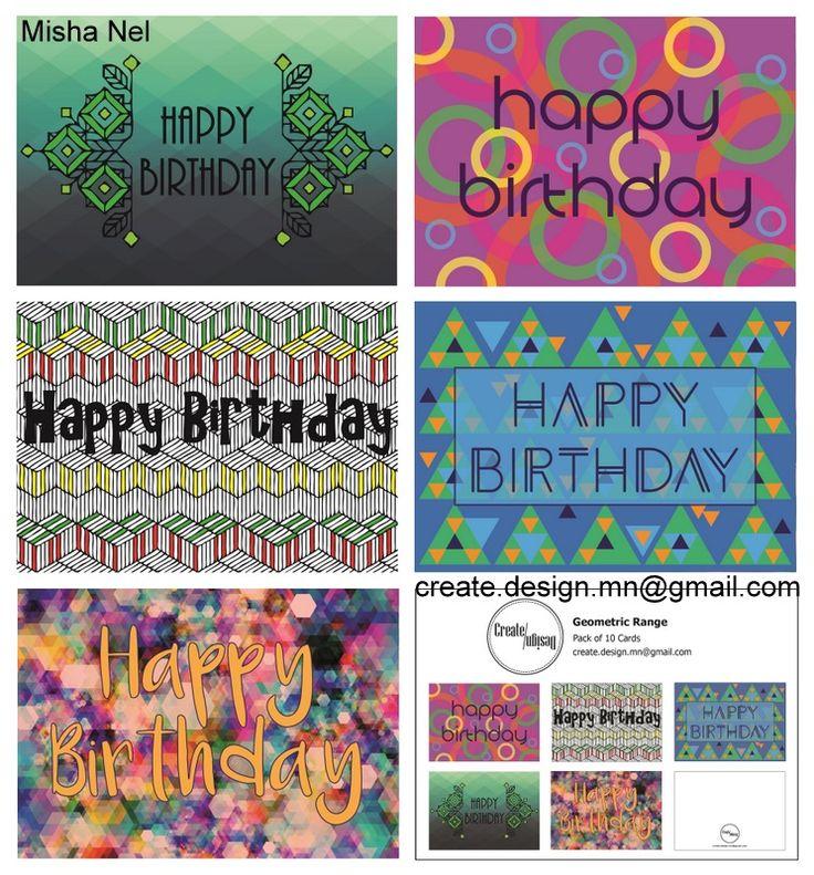 2016 Printable Cards Geometric Range