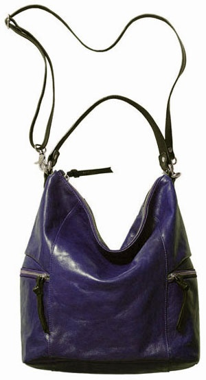 Tano Handbags Leather Zippy Bucket With Cross Body Shoulder Strap Ink