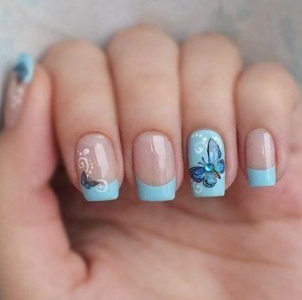 Маникюр с бабочками | 18 фотографий | ВКонтакте