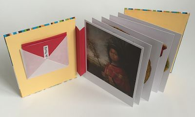 Making Handmade Books: Single Flag Postcard Book