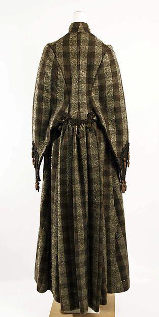 Coat (image 3) | American | 1883 | wool, silk | Metropolitan Museum of Art | Accession Number: 1982.348.3