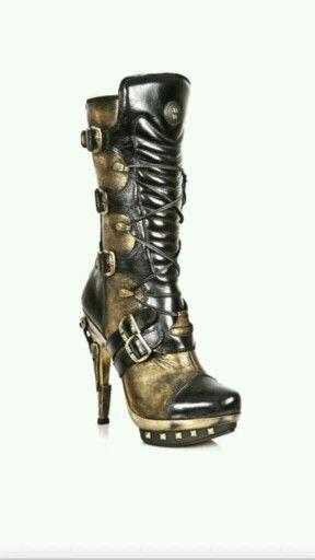 chaussures steampunk,Chaussures steampunk homme noires