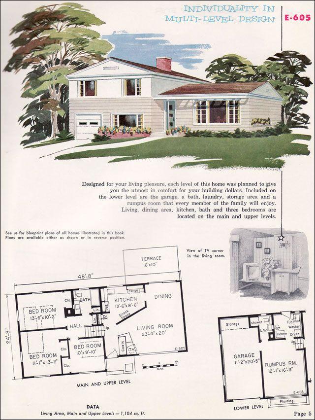 Best 20 split level exterior ideas on pinterest split for Split entry floor plans