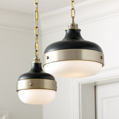 Halloway Pendant- this is a great nod to the Hick's Pendant.  Love the brass and black combo.  #lighting #pendant