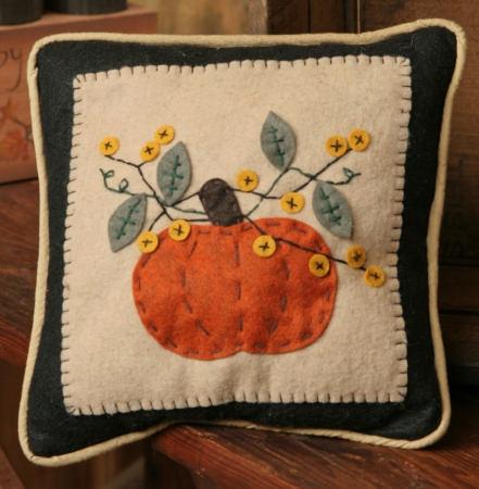 Pumpkin Pillow DIY with buttons