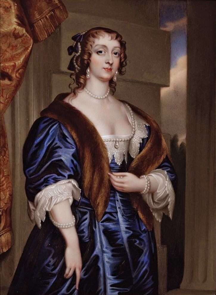 Lady Margaret Feilding, Duchess of Hamilton by Henry Pierce Bone in 1839 after Sir Anthonis van Dyck (auctioned) | Grand Ladies | gogm