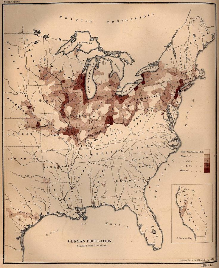 german population density in the united states 1872 heart maphistorical