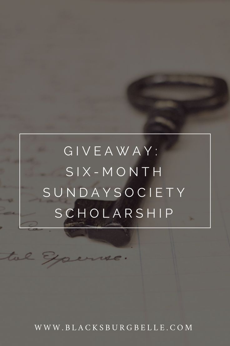 Enter to win a scholarship to the membership site, Sunday Society.