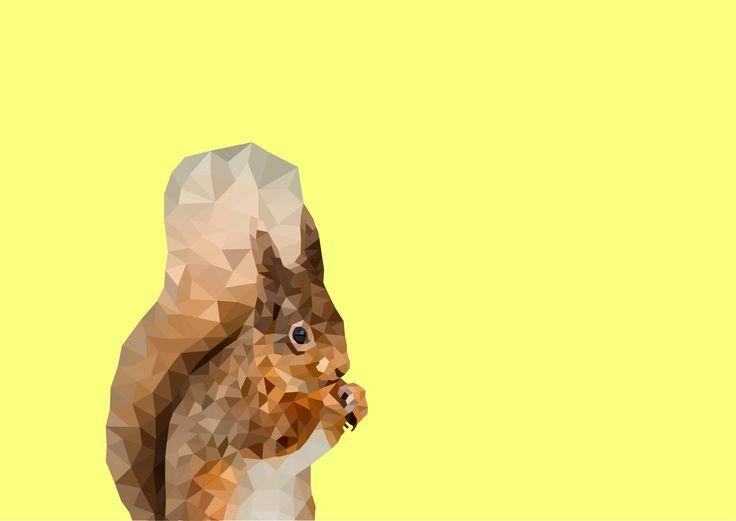 Polygonal Squirrel Print, Instant Download by VaciDesign on Etsy