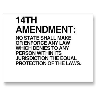 The 14th Amendment of the US Constitution.