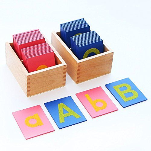 Montessori schools need to buy high-quality sandpaper letters, but you can purchase inexpensive sandpaper letters or make your own DIY sandpaper letters.