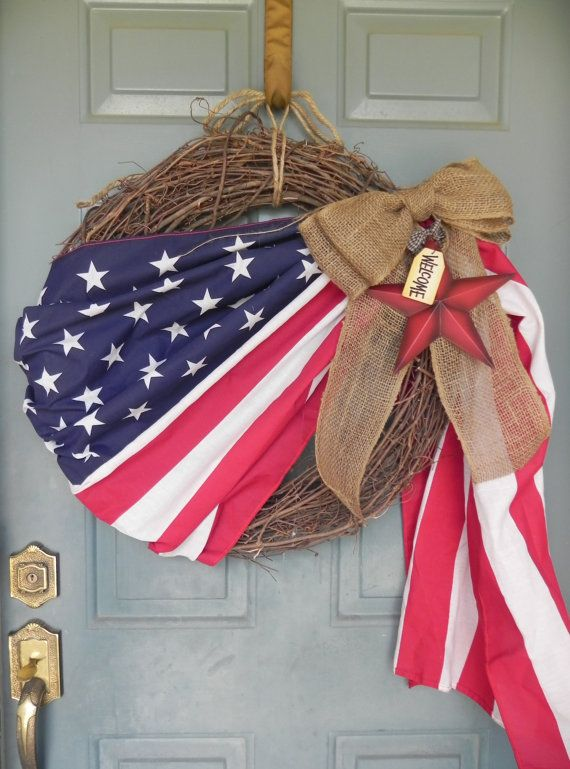Patriotic Flag Wreath - XLARGE 24'' I'm pretty positive I can make this on my own for way less.