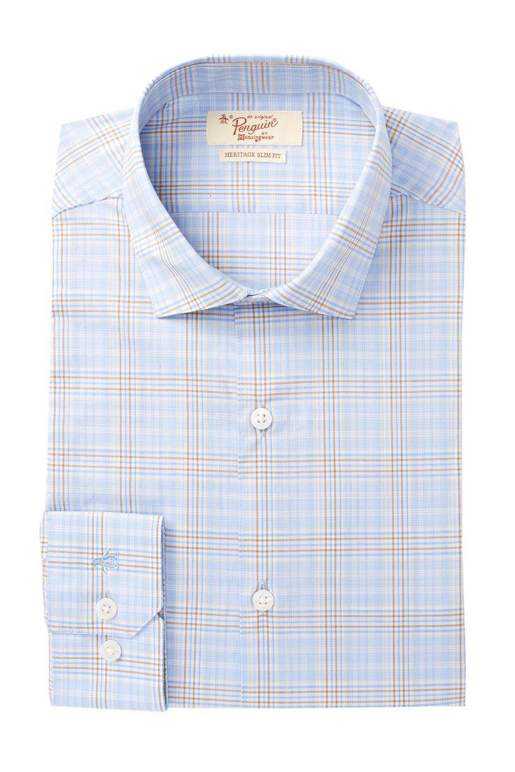 Glen Plaid Slim Fit Dress Shirt