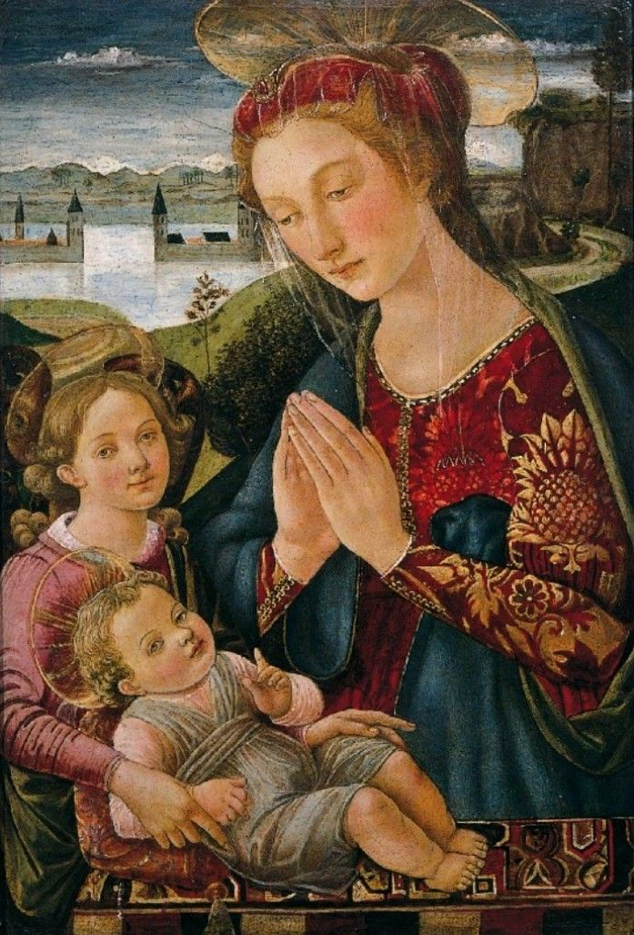 Biagio d'Antonio Tucci - Adorazione del Bambino - c. 1500 - Collezione privata