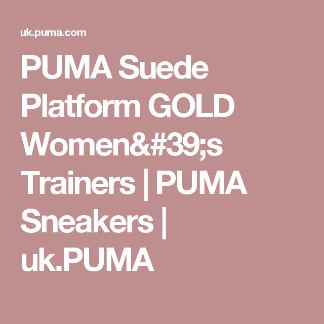 PUMA Suede Platform GOLD Women's Trainers | PUMA Sneakers | uk.PUMA