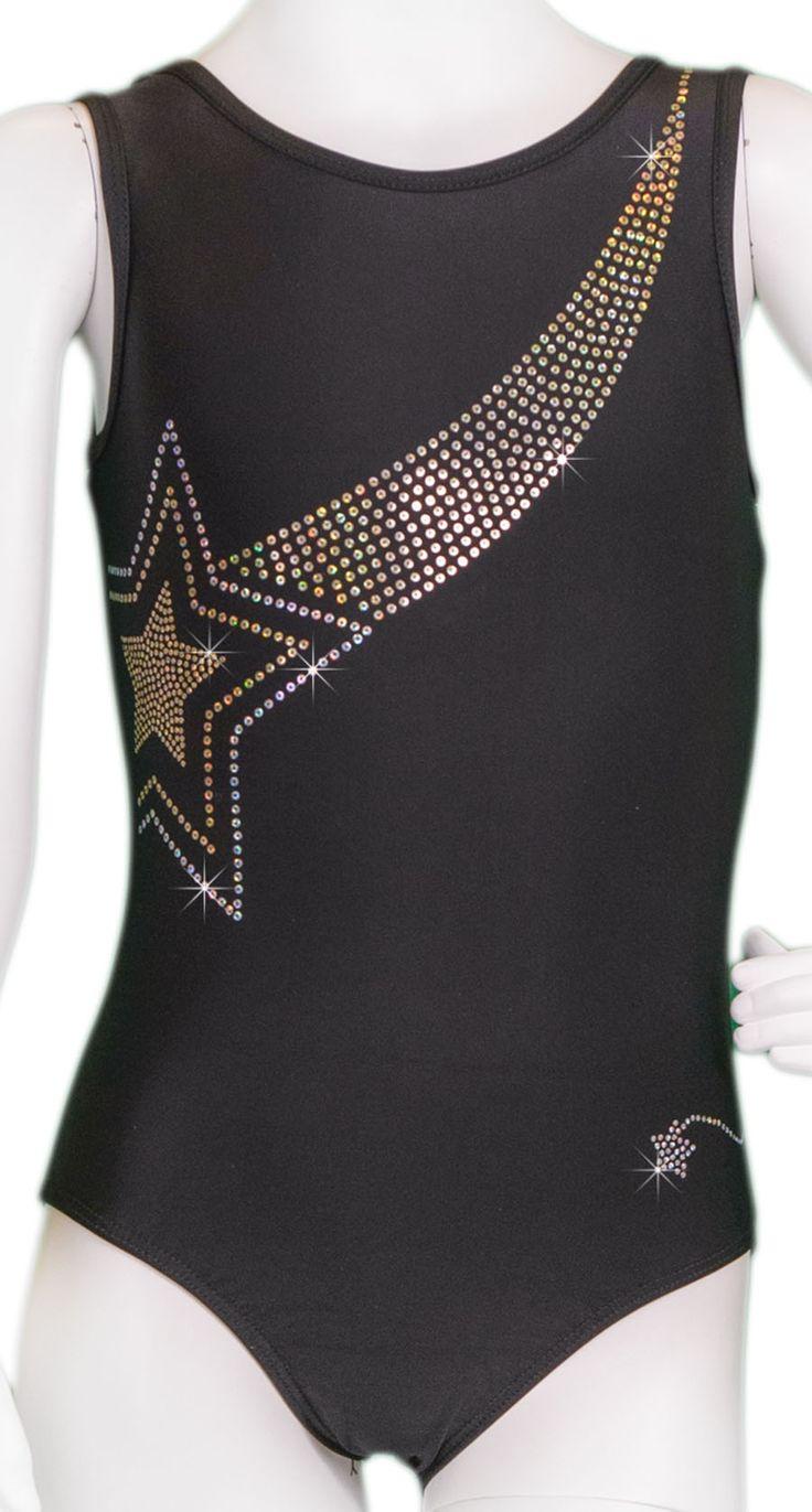 Gold Star Swoosh Leotard #leotards #gymnastics #leotard #gymnast