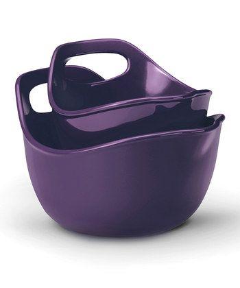 Purple Mixing Bowl Set