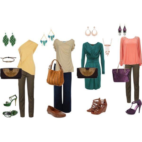 Deep autumn summer outfits by sabira-amira on Polyvore featuring Great Plains Wallis Blumarine ...
