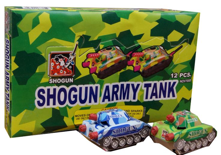 Tank with Star 20-12 | NCI, Inc. Indiana Fireworks Wholesale