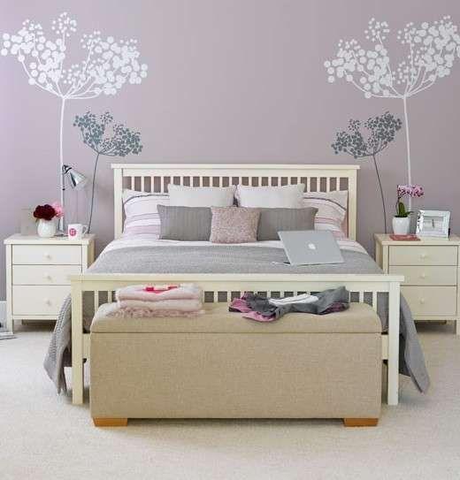 Come scegliere il colore delle pareti della camera da letto - Decorazioni bicolore sulle pareti