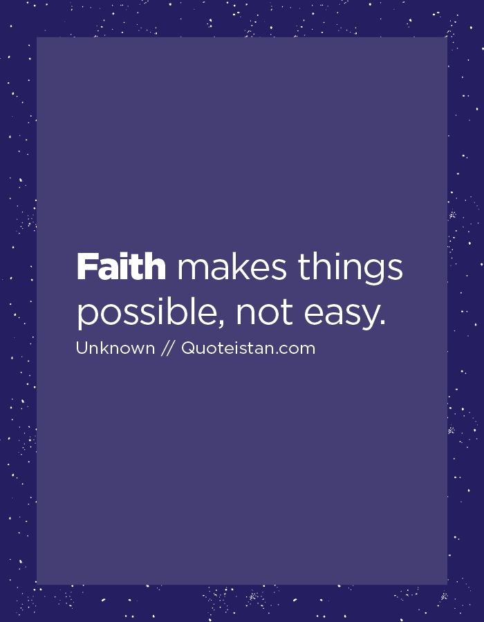 #Faith Makes Things Possible, Not Easy. Jewish QuotesFaith ... Ideas