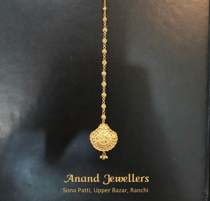 Shop for your wedding today, make sure to get benefits of the present gold price.  Anand Jewellers, established in 1919, is one of the oldest jewellery houses of the city and is located at Sona Patti (Opp Bina Bastralaya), Upper Bazar, Ranchi.  Pictured: Gold Mangtika (5.650 g)
