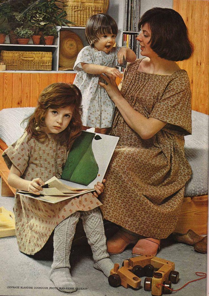 100 idées magazine , vintage Cocooning dress pattern