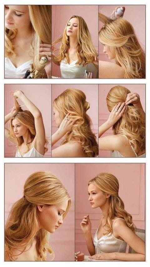 25 best wedding makeup and hair images on pinterest bridal makeup in this post you can check out 13 half up half down hair tutorials half updo hairstyles are extremely popular there are many great ways of managing your solutioingenieria Image collections