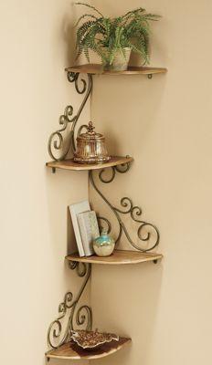 Scrolled corner shelf!!!! $60 THIS IS IT!!!!! YEAH!  @www.countrydoor.com