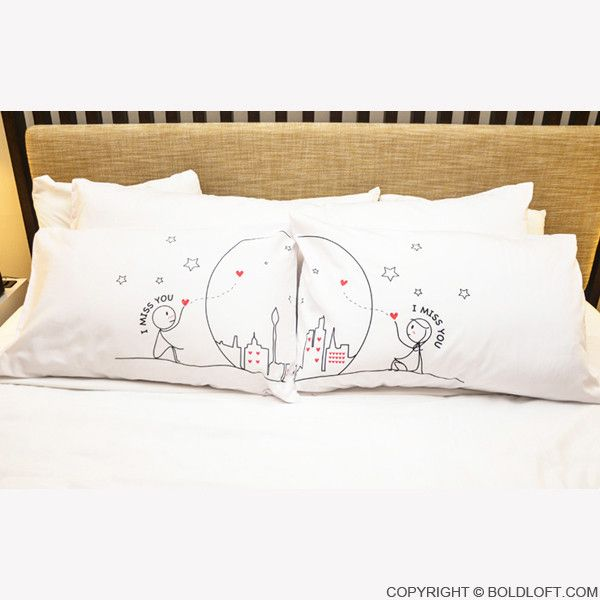 """""""I Miss Us Together! Wish you were here so I could tell you how hard every day and night has been without you!"""" This pillowcase set is a soothing reminder from you to them that you're here, you'll alw"""