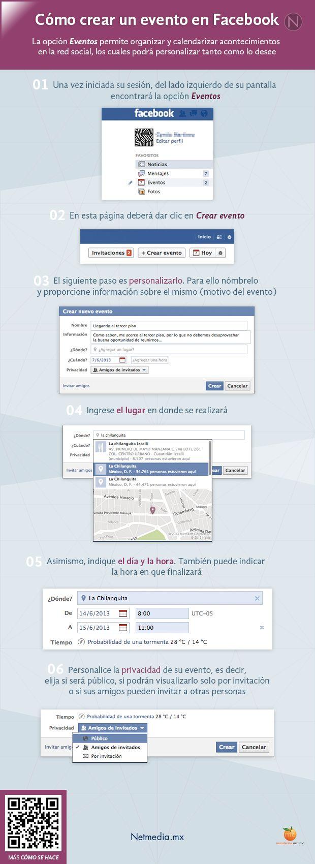 Cómo crear un evento en FaceBook #infografia #infographic #socialmedia