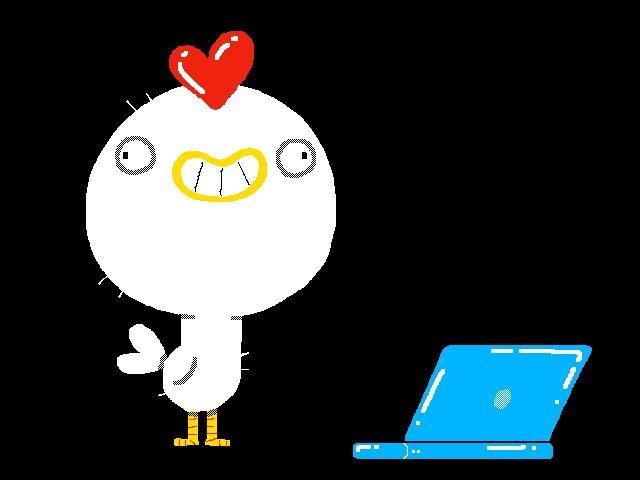 New party member! Tags: animated loop work head bird monday chicken working laptop typing typo pollo banging workaholic autocorrect folioscope joonasjoonas