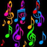 *COLOR ~ Falling Colorful Music Symbols