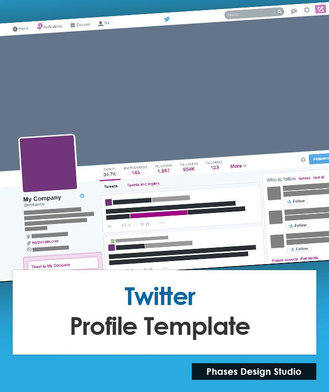 Use Our Photoshop Based Twitter Profile Template To Create