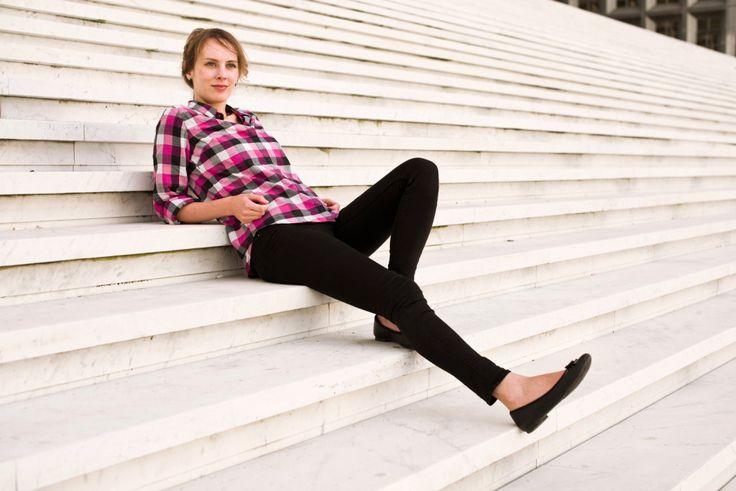 Pattern Runway pink plaid shirt by Carlotta Stermaria