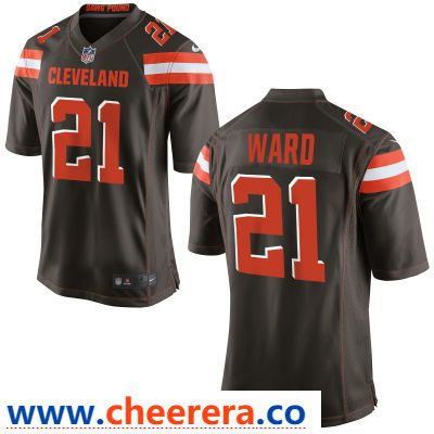 Men s Cleveland Browns  21 Denzel Ward Brown Team Color Stitched NFL Nike  Game Jersey 7eb21d60d