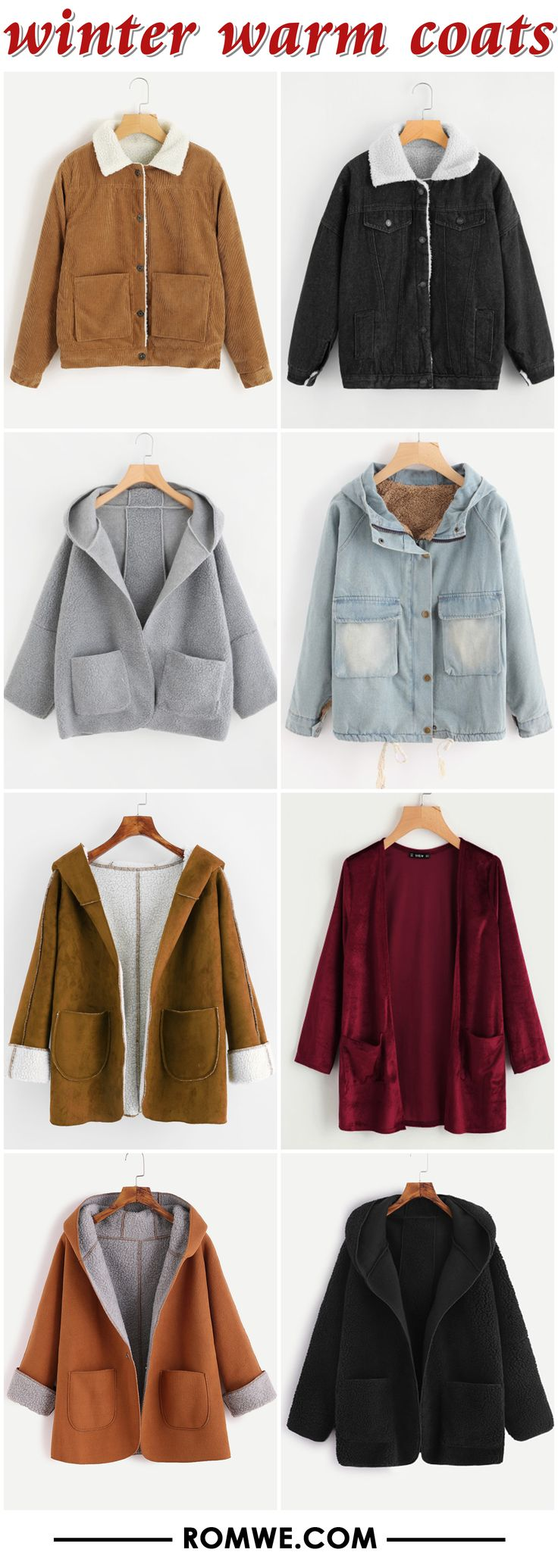 winter warm coats 2017 - romwe.com