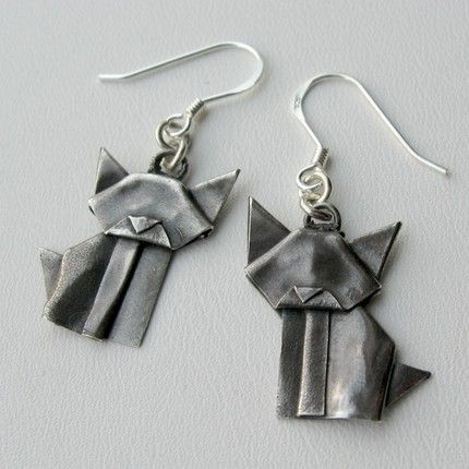 origami jewelry - cool! - Allegro Arts on Etsy