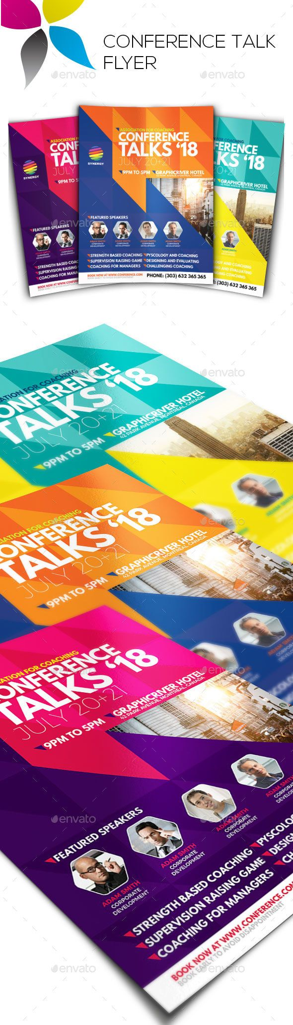 The 25 best Flyer design templates ideas – Conference Flyer Template